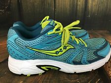 Saucony Grid Cohesion 8 Women's Shoes Size 8.5 Green Teal Blue Neon Run Walk