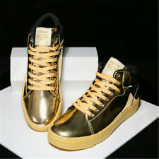 Mens Shiny Casual Sport Running High Top Street Board Shoes Breathable Sneakers