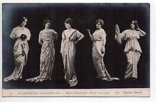 MODE Silhouettes parisiennes robes d'intérieur style carte photo old fashion