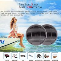 3 ' Marine  Radio Audio Speakers 2 Way Waterproof for Motorcycle  boat  outdoor