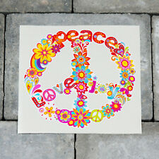 Colourful Peace Symbol Ornamental CND Vinyl Sticker Decal Car Van Bike - SKU5280