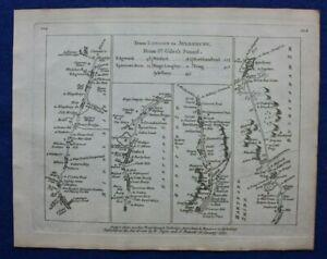 HERTFORDSHIRE, WATFORD, TRING, AYLESBURY, Pl 102 antique road map, Jefferys 1775