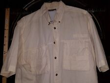 Rugged Earth Mens Large Yellow Short Sleeve Vented On Up Shirt Cool S1