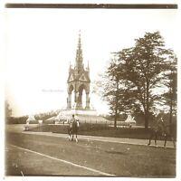 UK Londra Monumento c1930 Foto Placca Da Lente Stereo Vintage VR16L