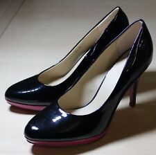 GRACELAND Lack Plateau Pumps, High Heels, pink lila schwarz, Gr. 38 TOP
