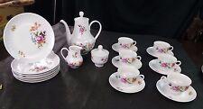 Henneberg Porzellan German Republic Teapot Sugar Cream Coffee Cake Plates  1777
