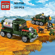 Enlighten 1706 Military Army Truck Car Figure Building Block Toys