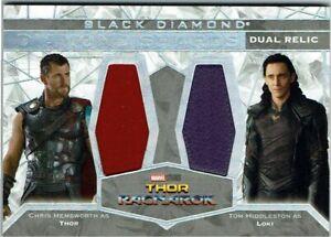 Marvel Black Diamond Shards Dual Relic DS2-RAG1 Chris Hemsworth & Tom Hiddleston