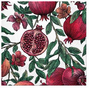 Pomegranate Fruit Paper Lunch Napkins 20pcs Serviettes DECOUPAGE
