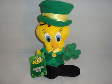WARNER BROS STUDIO STORE-LEPRECHAUN TWEETY BEAN PLUSH-8 INCH-NEW/TAGS-1999-RARE!