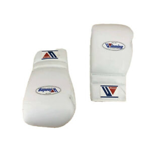 Winning Boxing Gloves Lace up 16 Oz White