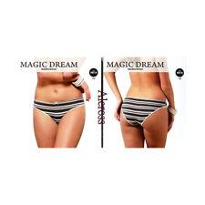 2 Braguitas de mujer algodón elástico Magic Dream Medida 3/M gris antracita 4819