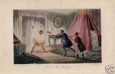 1870= SCENETTE VITTORIANE= Antica Stampa CROMOLITO