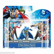 DC Superheroes 4-Inch Mini-Statue Set D 3-Pack/Harley Quinn, Batman & Bane