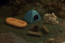 DOME TENT 7pc camp site Raft firewood more N Scale B/Y