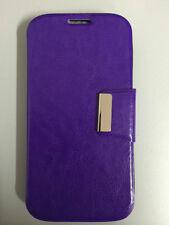 Funda Flip ALCATEL POP C7 tipo libro con cierre COLOR MORADO+PROTECTOR GRATIS