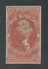 R81a ( Imperforate ) Used, $2.00 CONVEYANCE