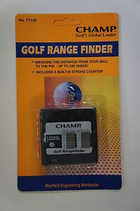 Champ Golf Range Finder with Stroke Counter, Measure Distance from Ball to Pin