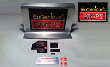 GHOSTBUSTERS ECTO GOGGLES REAL METAL BRUSHED ALUMINUM LABELS FULL SET GOOD PRICE