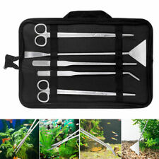 5in1 Fish Tank Cleaner Aquascape Tools Aquatic Plant Aquascaping Tweezer Scissor