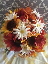 Wedding flowers bridal bouquets decorations sunflowers cranberry clearance