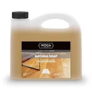 Woca Holzbodenseife natur - 2,5 L + 20% EXTRA, pflegende Reinigung geölter Böden