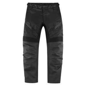 Icon Men's Contra Black Leather & Textile Pants for Motorcycle Street Riding