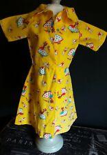 1950 Era Fun Material dancing Ladies Yellow Dress for Hard Plastic Era Dolls