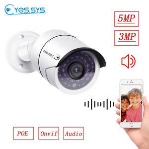 H.265 HD 2MP/3MP/5MP 48V POE Net CCTV IP Sound Recording Camera  for NVR
