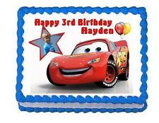 Cars Lightning McQueen edible cake image party cake topper decoration