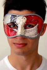 Mens Masquerade Mask - ITALIAN Made - OVERNIGHT to Metro Aust, Vivaldi Silver