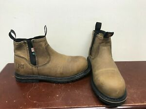 Timberland Pro Millworks Chelsea Work Boots Size 9.5W.