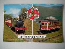 Isle of Man Railways Victorian Steam Railway Snaefell Mountain Rail Old Postcard