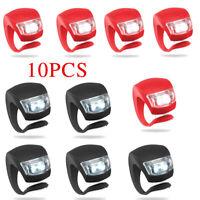 10 pezzi luci a led per biciclette anteriore e posteriore bianco e rosso