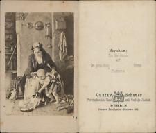 """G.Schauer, scène de vie """"les petits chats"""" d'après dessin Vintage CDV album"""