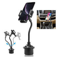 Car Cup Holder Mount Stand for iPhone Xs Max Xr 8 7 6 Plus Samsung S10 S8 Note 9