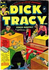 """DICK TRACY #44 PR/Inc Chester Gould """"Case Of The Mouthwash Murder"""" 1951 Harvey"""