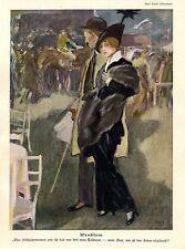 Paul Rieth, Problem / Erich Wilke, Die Hausfrau Historischer Kunstdruck 1915