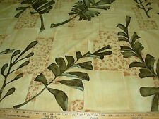 "~3 YDS~BRUNSCHWIG&FILS~""OCHO RIO"" LEAVES~COTTON UPHOLSTERY FABRIC FOR LESS~"