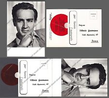 VITTORIO GASSMAN 07 ATTORE ACTOR CINEMA MOVIE Cartolina REAL PHOTO x AUTOGRAFO