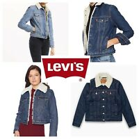 Levis Sherpa Womens Trucker Jackets Many Colors Blue Black