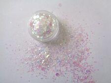 3g Pentola Nouveau IRIDESCENTE Pre-Mixed Glitter Polvere Acrilica Con Paillettes/Dischi