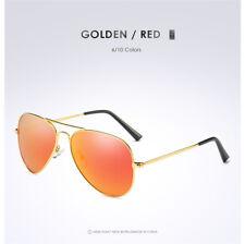 Polarized Aviator Sunglasses Mens Womens Mirrored Coating Lens Retro Sunglasses