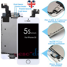 For iPhone 5S Screen Replacement LCD Display Touch with Home Button Camera White
