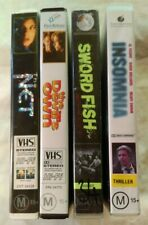 VHS Lot of 4 Large Case Titles: The Net, The Devil's Own, Sword Fish & Insomnia