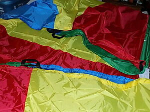 NEW 12 FT Play Parachute for Kids Handles Indoor Outdoor Game