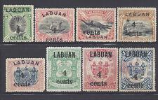 Labuan North Borneo Stamps 1904 4c Surcharges (SG129//137) M £158/$209