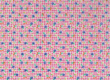 Hot Pink / Navy Floral  Polycotton Fabric