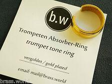 Absorber-Ring/Tonring für Trompeten und Flügelhörner -vergoldet-