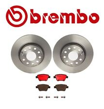 For Volkswagen Jetta Audi A3 Brembo Rear Brake Kit Disc Rotors and Ceramic Pads
